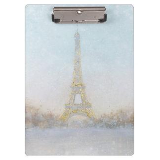 Watercolor | Image of Eiffel Towe Clipboard