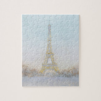 Watercolor | Image of Eiffel Towe Jigsaw Puzzle