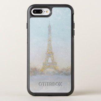 Watercolor | Image of Eiffel Towe OtterBox Symmetry iPhone 8 Plus/7 Plus Case