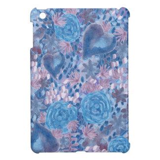 Watercolor in blues iPad mini case