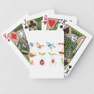 Watercolor insect illustration bicycle playing cards