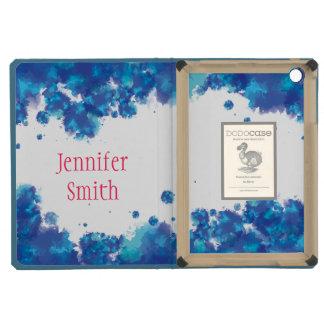 Watercolor Inspired Blue iPad Mini Case