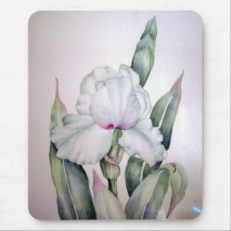 Watercolor Iris Mouse Pad