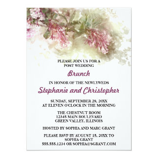 Watercolor Jasmine Hosted Post Wedding Brunch Card