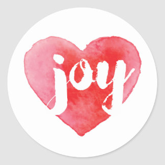Watercolor Joy Heart Stickers