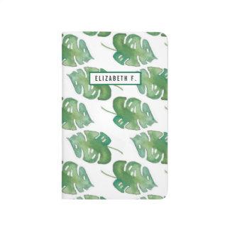 Watercolor Jungle Leaf Pocket Journal