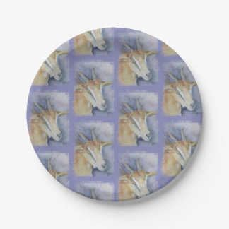 Watercolor Kid Goat Paper Plate