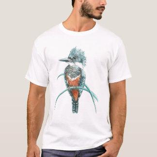 Watercolor Kingfisher Bird Logo Art T-Shirt