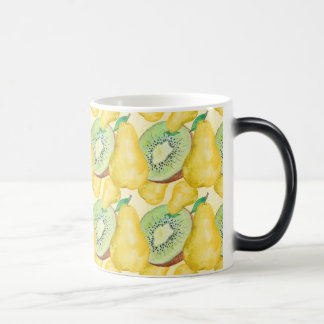 Watercolor Kiwi and Pear Magic Mug