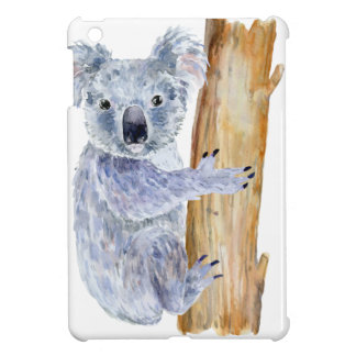 Watercolor koala illustration iPad mini cover