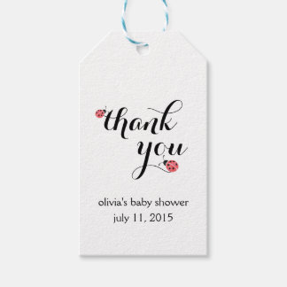 Watercolor Ladybug Baby Shower Favor Tags