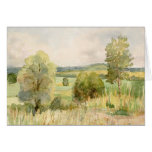 Watercolor Landscape Greeting Card