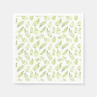 Watercolor Laurel Patterned Wedding Paper Napkin