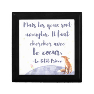 Watercolor Le Petit Prince The Little Prince Small Square Gift Box