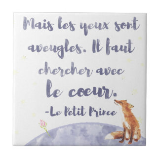 Watercolor Le Petit Prince The Little Prince Small Square Tile
