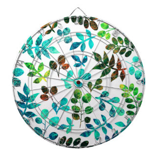 Watercolor Leaf Design Dartboards