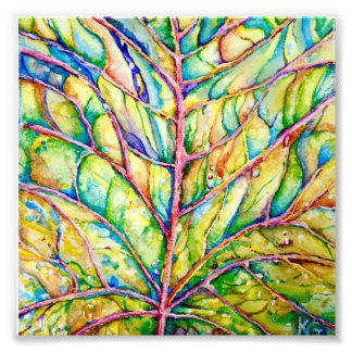 Watercolor Leaf Photo Print