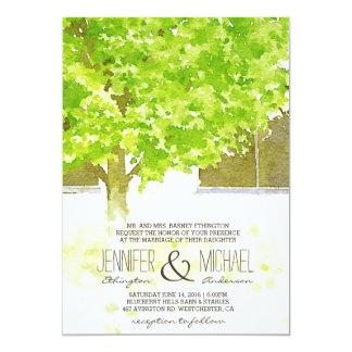Watercolor Leaves | Spring Wedding Invitation
