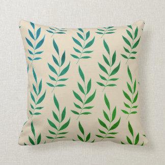 Watercolor Leaves Tan Pillow