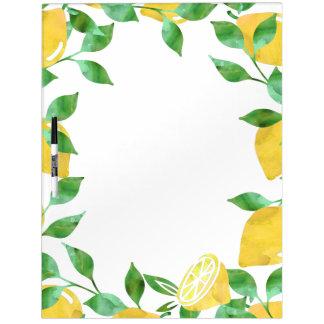 Watercolor Lemons Dry Erase Board