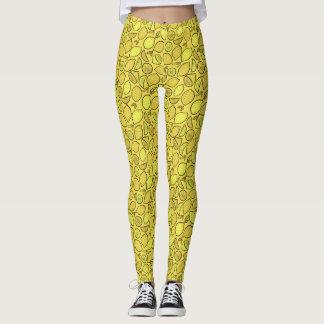 Watercolor Lemons Leggings