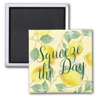 Watercolor Lemons Squeeze the Day Magnet