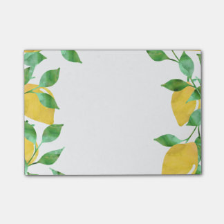 Watercolor Lemons Sticky Notes