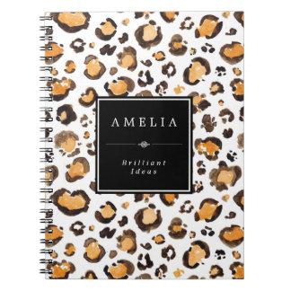 Watercolor Leopard Spots | Custom Name Notebook