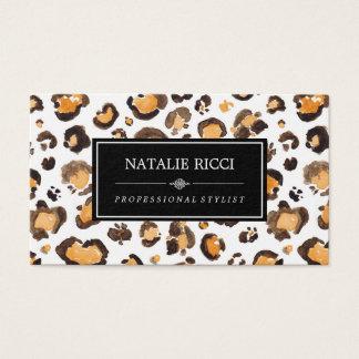 Watercolor Leopard Spots Elegant & Chic Business Card