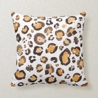 Watercolor Leopard Spots Pattern Cushion