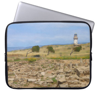 Watercolor lighthouse laptop sleeve