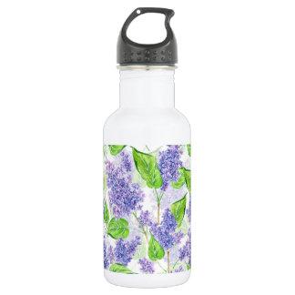 Watercolor lilac flowers 532 ml water bottle