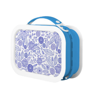 Watercolor Lilac flowers Lunchbox