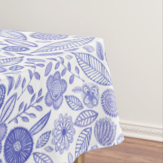 Watercolor Lilac flowers Tablecloth