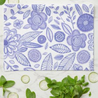 Watercolor Lilac flowers Tea Towel