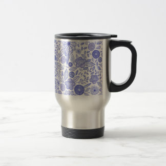 Watercolor Lilac flowers Travel Mug