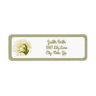 Watercolor Lilies Return Address Label