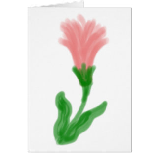 Watercolor Lily Greeting Card Blank Inside