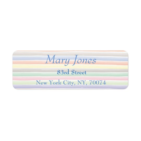 Watercolor lines return address label