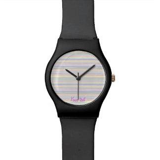 Watercolor lines watch