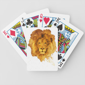 Watercolor Lion Bicycle Playing Cards