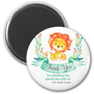 Watercolor Lion Thank You Magnet