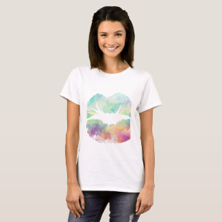 Watercolor Lips casual soft female lifestyle T-Shirt
