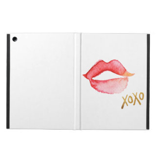 Watercolor Lips & Gold Foil XOXO iPad Air Cover