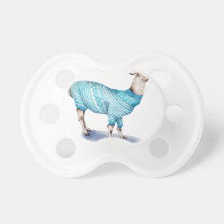 Watercolor Llama in Blue Sweater Dummy