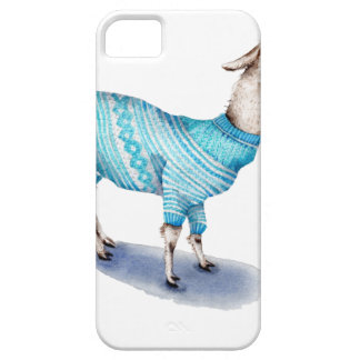 Watercolor Llama in Blue Sweater iPhone 5 Covers