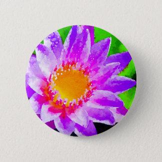 Watercolor Lotus 6 Cm Round Badge