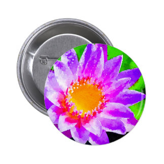 Watercolor Lotus 6 Cm Round Badge