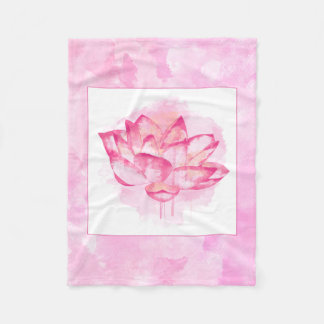 Watercolor Lotus Small Blanket