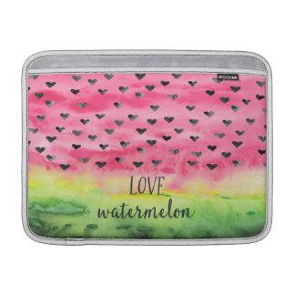 Watercolor Love Watermelon Hearts Sleeves For MacBook Air